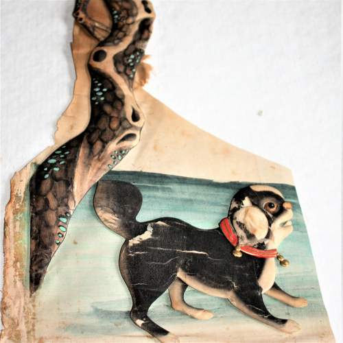 Two Pieces of Early 20th Century Chinese Stump Work - One of Man One of Dog image-6