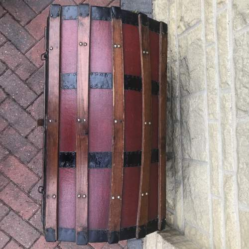 Domed Steel Banded Leather Chest image-6