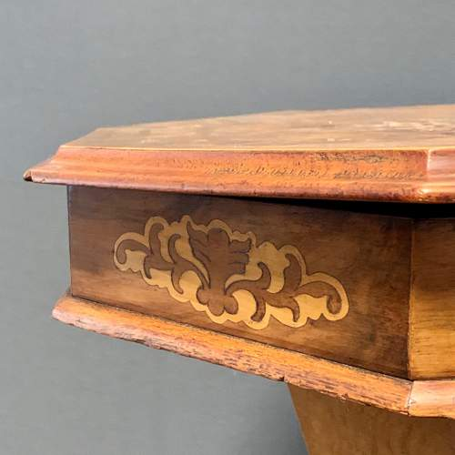 Victorian Walnut Sewing Box with Marquetry Inlay image-4