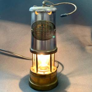 20th Century Converted Miners Lamp