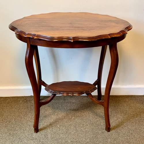 Edwardian Shaped Mahogany Side Table image-1
