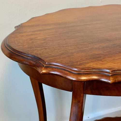 Edwardian Shaped Mahogany Side Table image-2