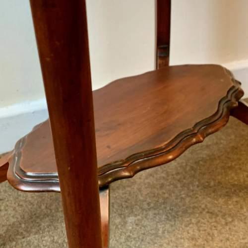 Edwardian Shaped Mahogany Side Table image-3