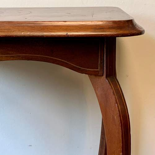 Edwardian Walnut Side Table Inlaid with Nautical Style Stars image-4