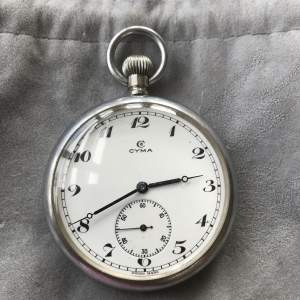World War 2 Cyma Pocket Watch