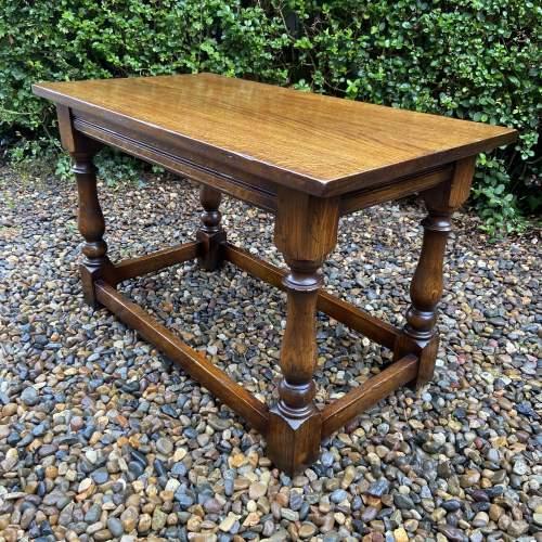 Traditional Oak Coffee Table image-1