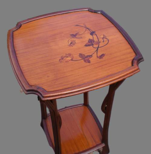 A French Art Nouveau Inlaid Plant Stand or Lamp Table image-2