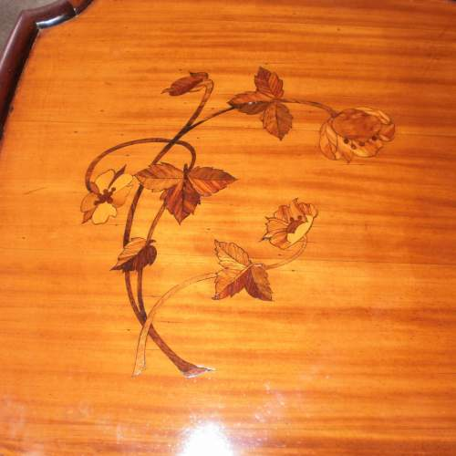 A French Art Nouveau Inlaid Plant Stand or Lamp Table image-4