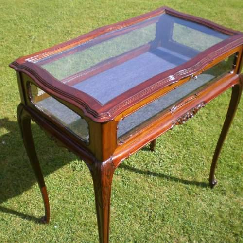 Victorian Mahogany Bijouterie Cabinet Table image-2