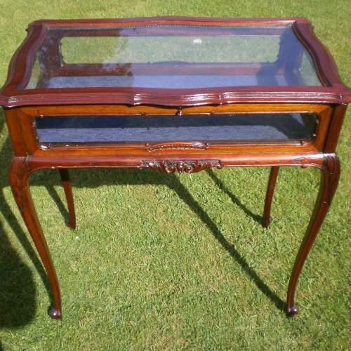 Victorian Mahogany Bijouterie Cabinet Table image-1