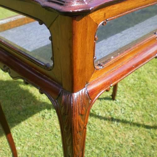Victorian Mahogany Bijouterie Cabinet Table image-3