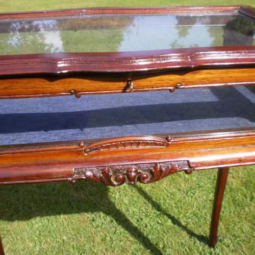 Victorian Mahogany Bijouterie Cabinet Table image-4