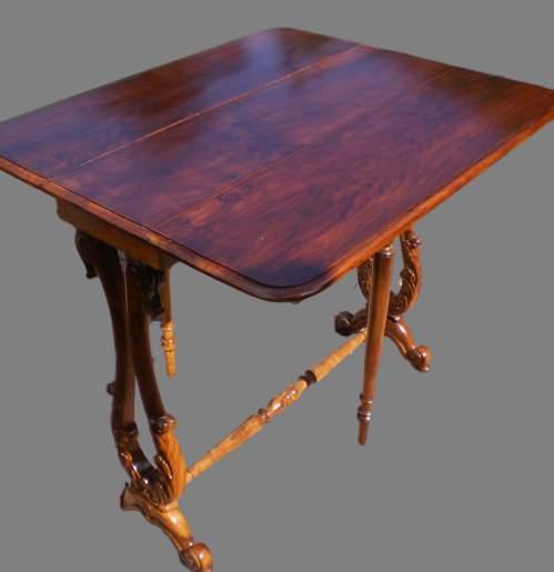 19th Century Walnut Sutherland Table image-2