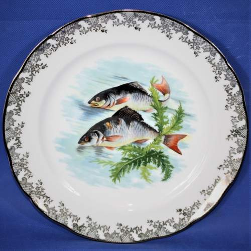 Lovely Set of Four Limoges Fish Plates image-1