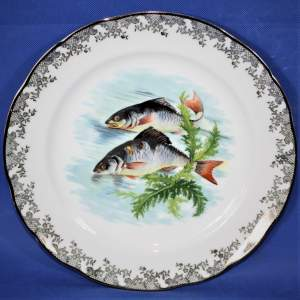 Lovely Set of Four Limoges Fish Plates