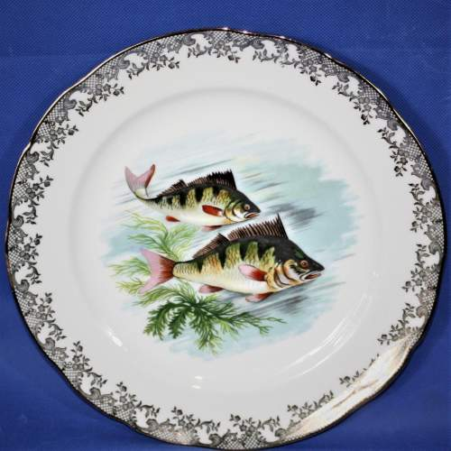 Lovely Set of Four Limoges Fish Plates image-2