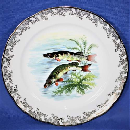 Lovely Set of Four Limoges Fish Plates image-4