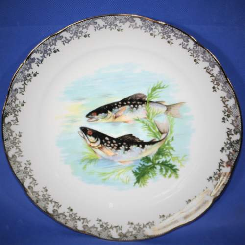 Lovely Set of Four Limoges Fish Plates image-6