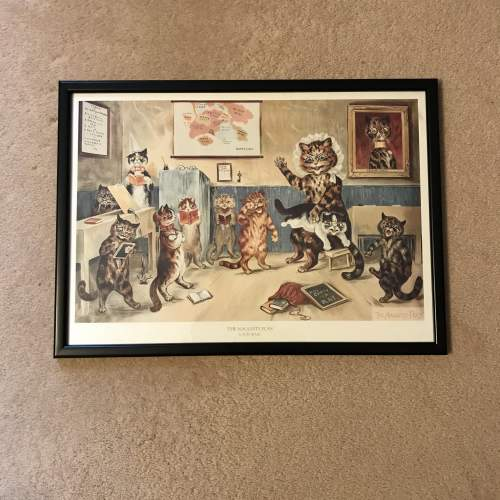Pair of Early 20th Century Louis Wain Cat Prints image-3