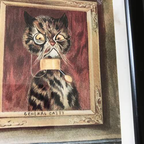 Pair of Early 20th Century Louis Wain Cat Prints image-4