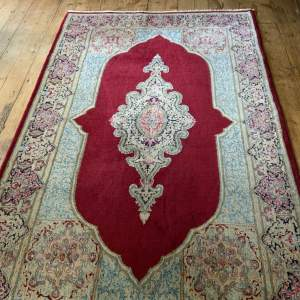 A Stunning Hand Knotted Persian Kerman Rug