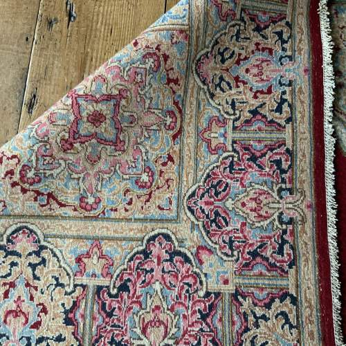 A Stunning Hand Knotted Persian Kerman Rug image-4