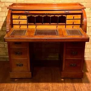 Victorian Walnut Rolltop Desk
