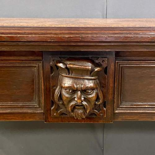Victorian Carved Library Table image-3