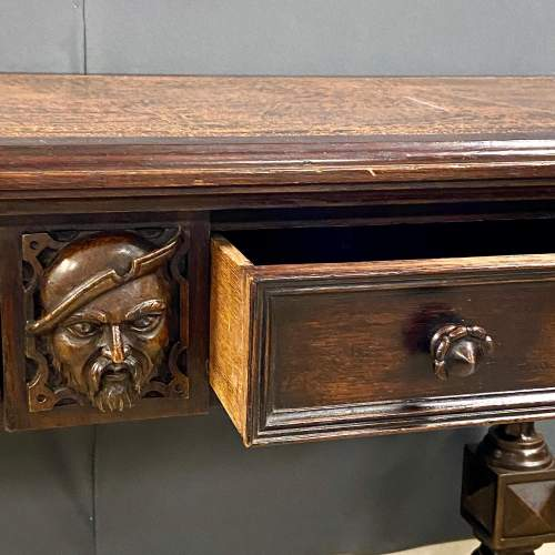 Victorian Carved Library Table image-4