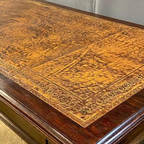 Victorian Carved Library Table image-5