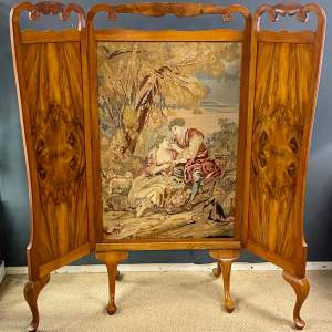 Early Victorian Tapestry Screen