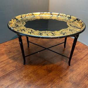 Large Oval Papier Mache Tray Table
