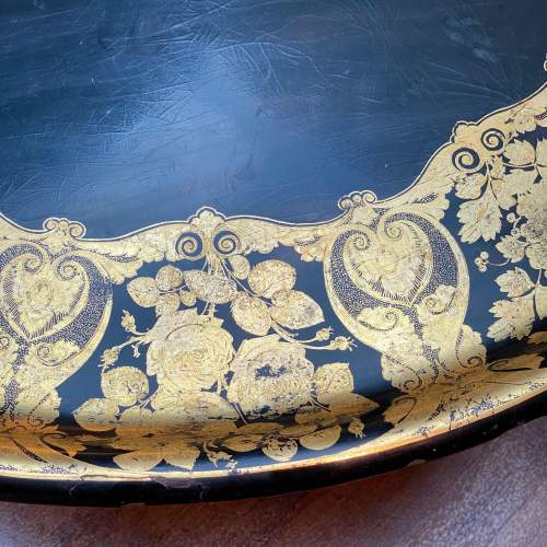 Large Oval Papier Mache Tray Table image-5