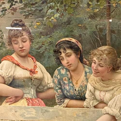 Victorian Eugene De Blaas Print of Rival Bells image-3