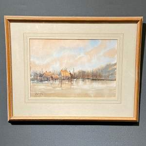 Harbour Scene Painting by John Landrey