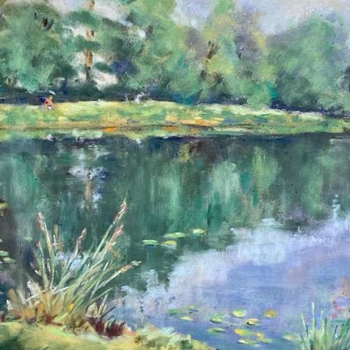 Framed Pastel Drawing Still Waters image-3