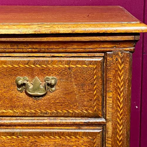 Antique Inlaid Oak Chest of Drawers image-3