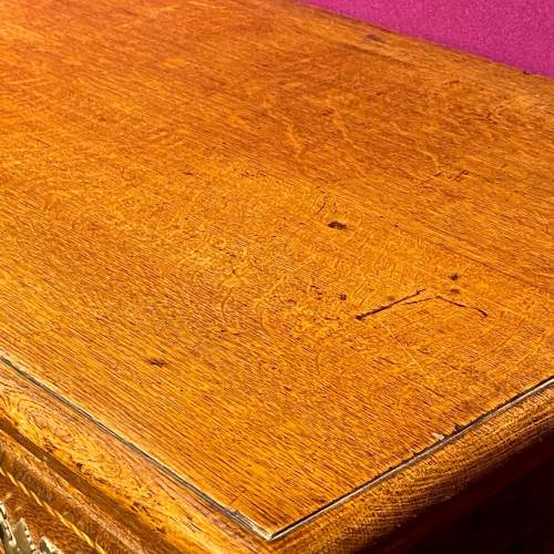 Antique Inlaid Oak Chest of Drawers image-4