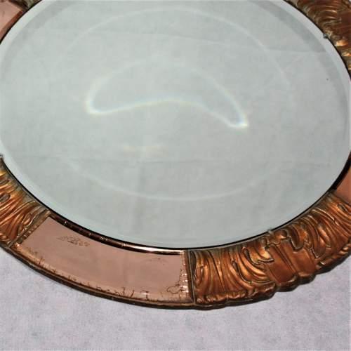 Atsonea Art Deco Peach Glass Wall Mirror image-2