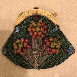1920s Egyptian Revival Beadwork Bag