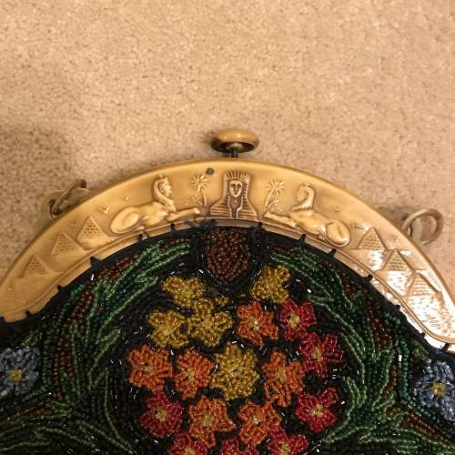 1920s Egyptian Revival Beadwork Bag image-2