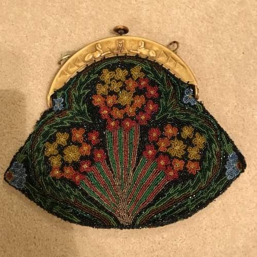 1920s Egyptian Revival Beadwork Bag image-3