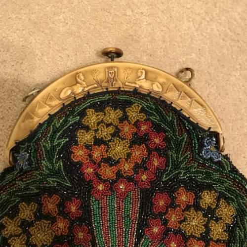 1920s Egyptian Revival Beadwork Bag image-4