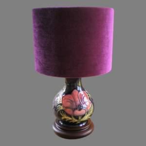 Moorcroft Tube Lined Pottery Table Lamp