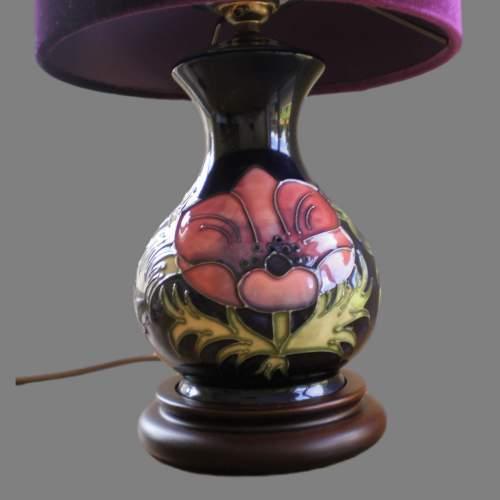 Moorcroft Tube Lined Pottery Table Lamp image-2