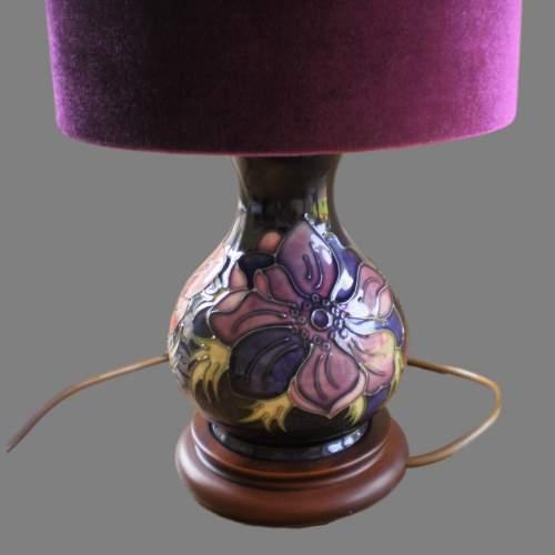 Moorcroft Tube Lined Pottery Table Lamp image-3