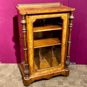 Victorian Burr Walnut Music Cabinet