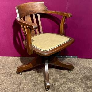 Edwardian Swivel Desk Chair