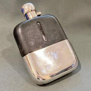 James Dixon Silver Plated Glass Hip Flask
