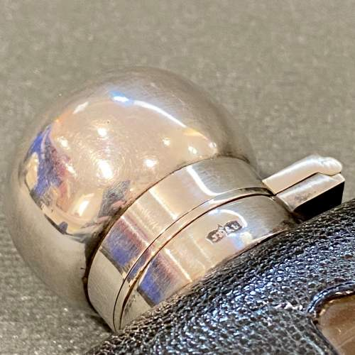 James Dixon Silver Plated Glass Hip Flask image-5